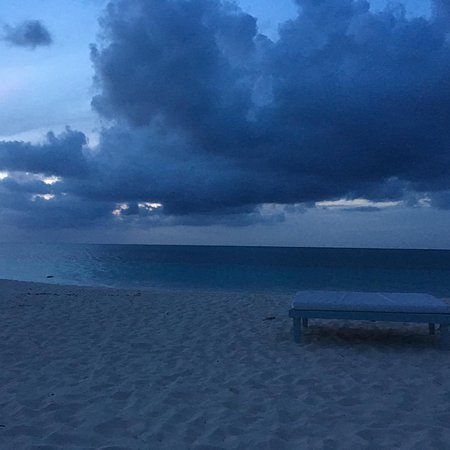 Beach House Turks & Caicos: A storm rolling in across the Ocean one evening.