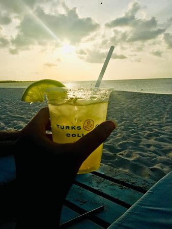 Beach House Turks & Caicos: Sunset margarita on the beach.