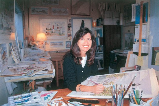 Donna Elias at her old studio in Atlantic City