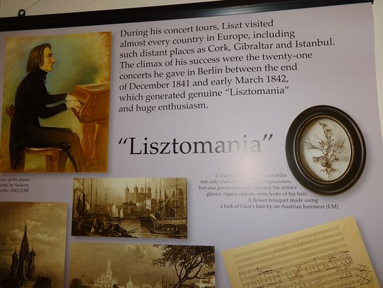 Liszt Ferenc Memorial Museum: Several plaques teaching us about Liszt on our way to the concert hall