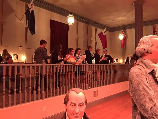 """America's Founding Fathers Exhibit: You can view the life-size diorama of the painting """"Declaration of Independence"""" from every angle. See the signers in 3D while walking the exhibit."""
