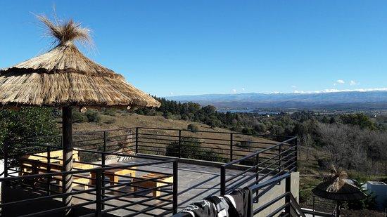 Villa Ciudad de America, Argentina: La terraza del quincho!!!!! con una vista inolvidable de cada atardecer....