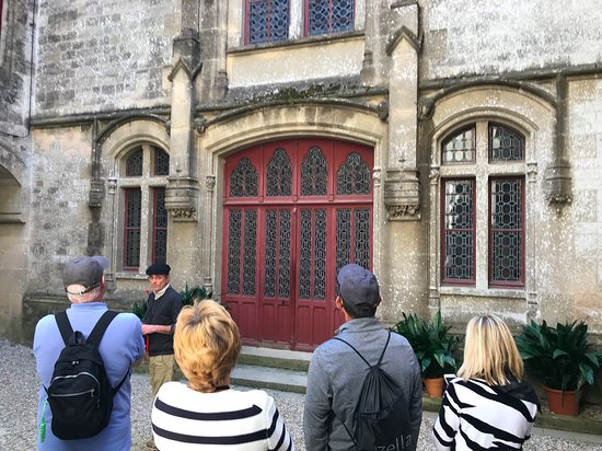 Once inside the gates you find yourself in a courtyard.  This is the main entrance to the Chateau.