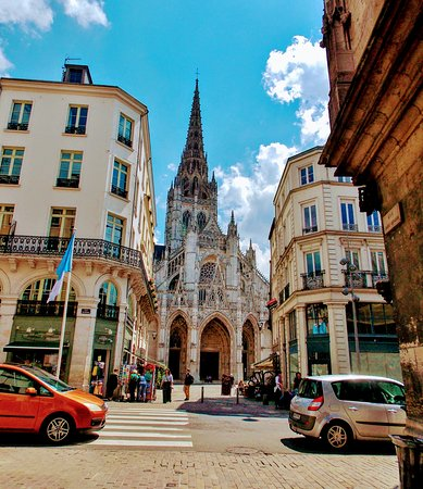 Places to Go and See in Rouen France - St Maclou Church Built in 1521... nearly celebrating its 500 year standing.