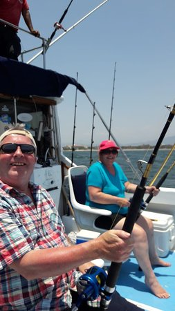 Karl and his wife from the U K fishing in Puerto vallarta Mexico