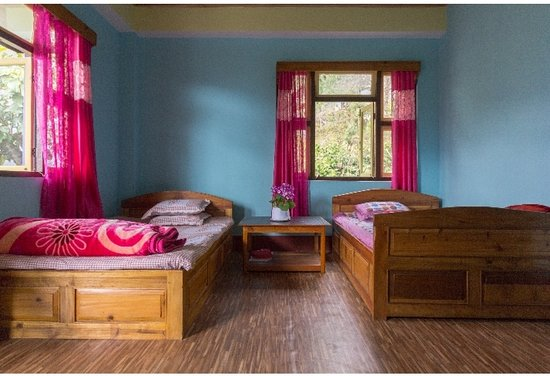 Yangang, India: Double bed double room with good scenario of room