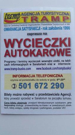 Busko Zdroj, Polonia: Agencja Turystyczna Tramp