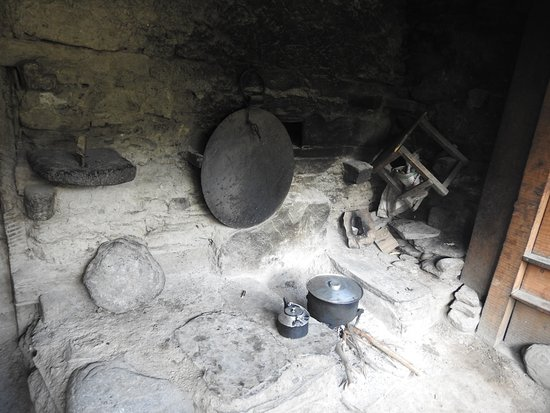 Chitral, Pakistan: Kitchen in a Kalash home.