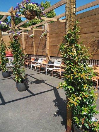 fantastic sunshine in the beer garden at CafeBar21