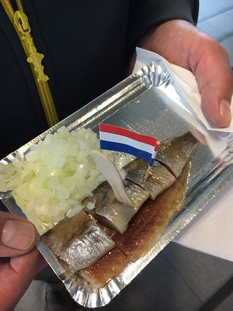 Pickled herring with raw onion for breakfast?   You bet!