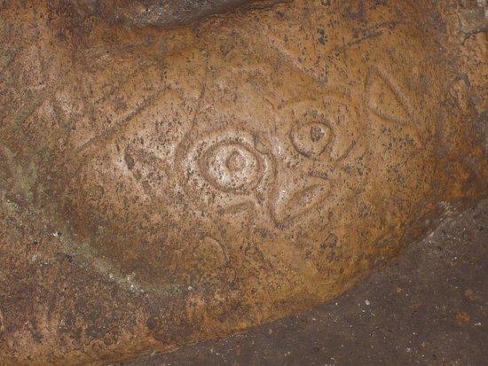 Las Terrenas, Repubblica Dominicana: Gravure Taïnos à l'intérieur d'une grotte