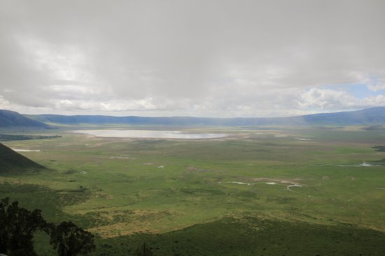 Looking over the Ngorongoro Crater from roadside view point.