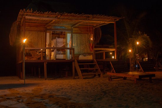 La Guajira Department, Colombia: Each one of our teak wood cabins was built by local craftsmen.