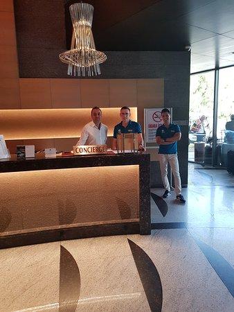 Cornelia Diamond Golf Resort & Spa: another concierge plus the porters in blue t shirts