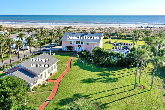 Aerial View of Beachfront Bed & Breakfast