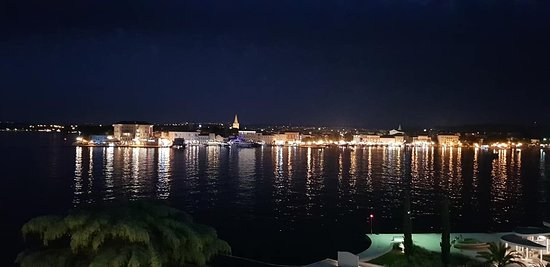 Balcony night view of Porec