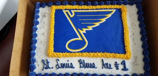Astonishing St Louis Blues Celebration Cake Picture Of Mariposa Market Personalised Birthday Cards Arneslily Jamesorg
