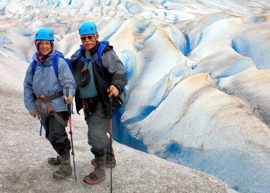 Mendenhall Glacier Canoe Paddle and Trek: On Mendenhall Glacier