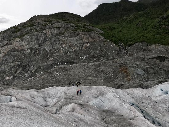 Mendenhall Glacier Canoe Paddle and Trek: The beginning of the hike.