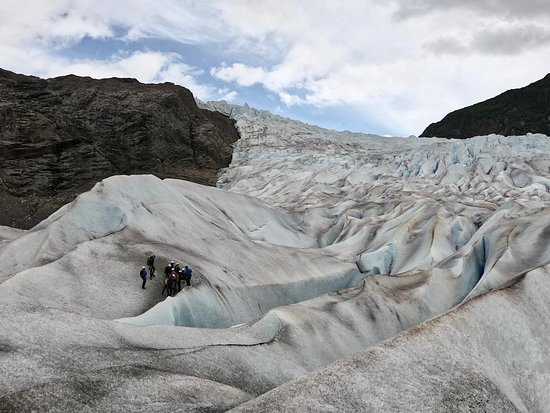 Mendenhall Glacier Canoe Paddle and Trek: This gives you an idea of the scale of the place.