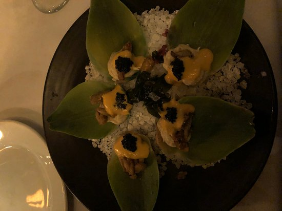 Artichoke oysters - I didn't use the the camera flash...it would have distracted too many other diners