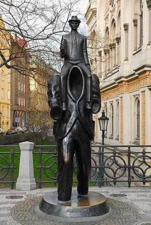 Praha, Česká republika: Franz Kafka Monument