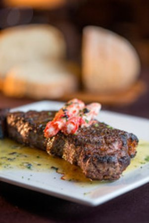 New York Strip with King Crab