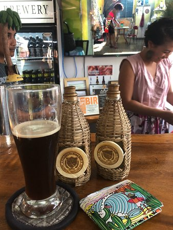 Tried all the beer (some more than once) 😝and their Buko Rum. So happy.. I took 2 bottles of Buko Rum back to Hawaii. Fhem gets 5 stars for best beertender!! 🍻