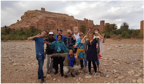 Inspiring Vacations: The lovely group at Aït Benhaddou, the most photographed Kasbah in Morocco!