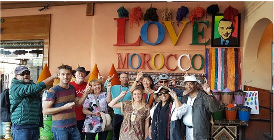 Inspiring Vacations: The group in Marrakesh