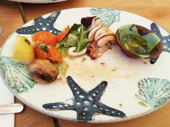 esta Foto é do prato de lula grelhada da mesma rede de restaurante da Quinta da falca mas do Estrela do mar