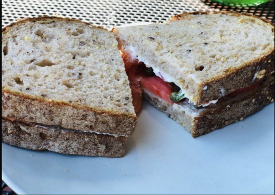 The cold smoked kosher salmon sandwich no onions on