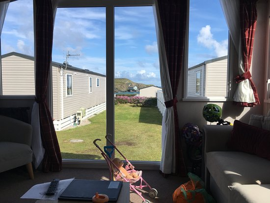 View from our caravan sofa