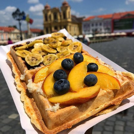 Unirii Square. With a waffle.