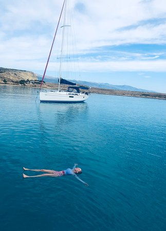 A  peaceful float in crystal waters