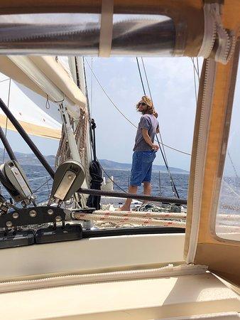 Our skipper Sotiris