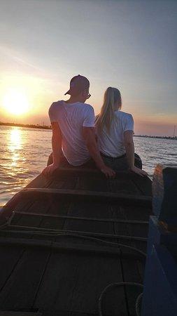 Mekong River Tourist: the sunset