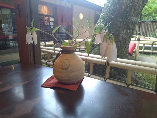 Sango-cho, Japón: Table at Garden Cafe