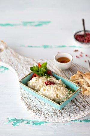 Aubergine puree with yogurt