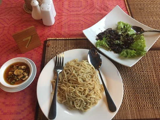 "Elodie Restaurant: ""Pone Yi Gyi"" with noodle"