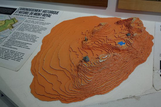 Макет горы Мон Руаяль.