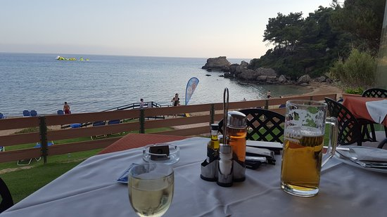Glyfada Beach Restaurant: Amazing view