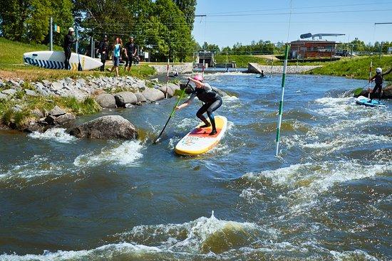 Nova Role, جمهورية التشيك: Paddleboard má širokou škálu využití, můžete si ho půjčit i na řeku.