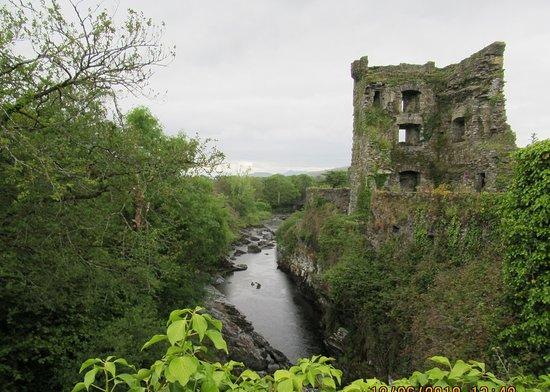 Carriganass Castle: Castle from bridge