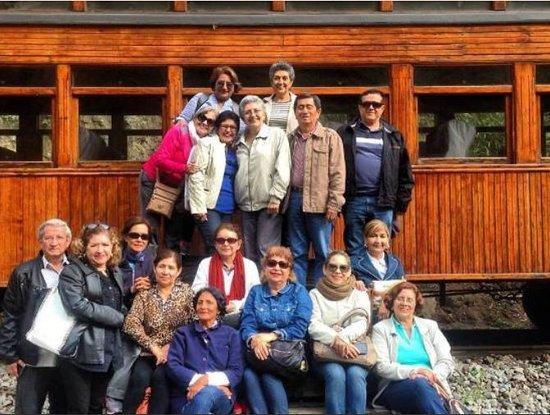 Huigra, Ekwador: Grupo en el Tour Ferrocarril Tren Nariz del Diablo
