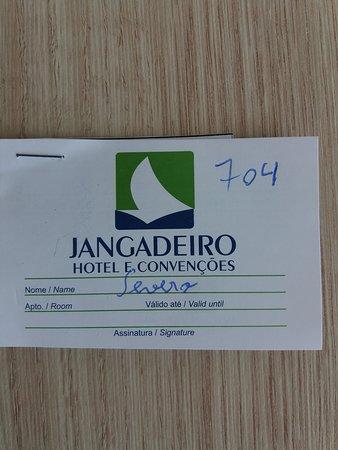 Hotel Jangadeiro: CARTÃO COM O NÚMERO DE APARTAMENTO