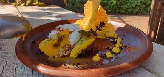 "De-constructed ""Pastel de Choclo"" (Corn Pie)."