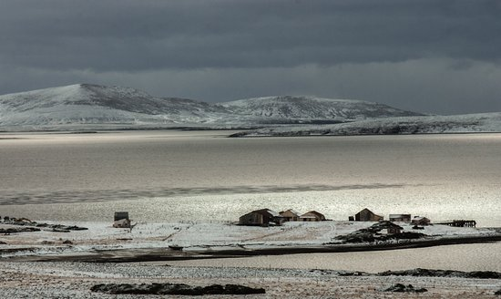 West Falkland, หมู่เกาะฟอล์กแลนด์: Winter time, just a sprinkle to be going on with