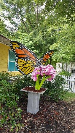 Lego Monarch butterfly sculpture