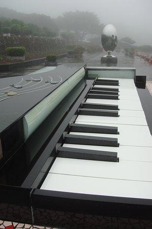大きなピアノの鍵盤